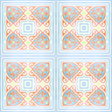 Dekorativa modeller för keramiska tegelplattor texturerar bakgrund i parkera Royaltyfri Bild