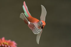 Dekorativa modeller fejkar fåglar Arkivbilder