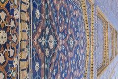 Dekorativa modeller och arkitektoniska detaljer av madrasah i Bukhara, Uzbekistan royaltyfria foton