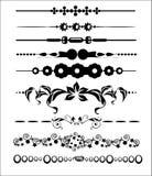 Dekorativa och för sidagarneringdesign element vektor illustrationer