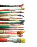 dekorativa paintbrushes Arkivbild