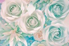 Dekorativa pappers- blommor Royaltyfri Fotografi