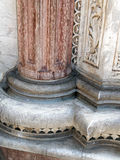 Dekorativa pelare, Siena Cathedral, Italien Arkivfoto