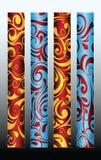 dekorativa prydnadar stock illustrationer