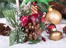 dekorativa prydnadar för jul Arkivfoton