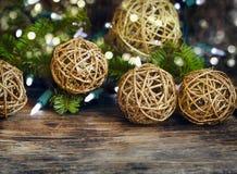 dekorativa prydnadar för jul Royaltyfri Fotografi