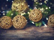 dekorativa prydnadar för jul Arkivfoto