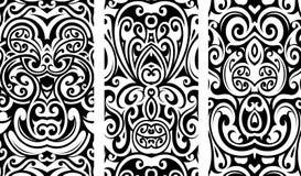 Dekorativa prydnader med stam- beståndsdelar vektor illustrationer