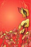 Dekorativa röda blommor Arkivfoton
