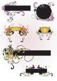 dekorativa ramar stock illustrationer