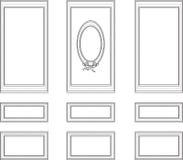 Dekorativa ramar för hus Fotografering för Bildbyråer