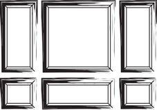 Dekorativa ramar för väggar och bakgrund Arkivfoton
