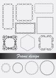 Dekorativa ramar och gränser för vektor i olik form Arkivbilder