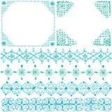 Dekorativa ramar och linjer Fotografering för Bildbyråer