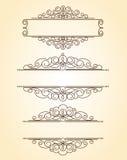 dekorativa ramar Tappning Brunn som byggs för lätt redigera Arkivbild
