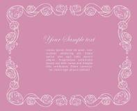dekorativa ro för ram Fotografering för Bildbyråer
