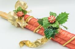 Dekorativa rottingstammar för jul royaltyfria bilder