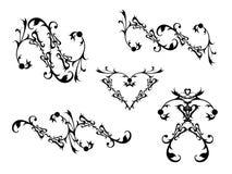 dekorativa scrolls Royaltyfria Bilder