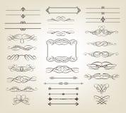 dekorativa scrolls för baner Royaltyfria Bilder