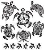 dekorativa sköldpaddor stock illustrationer