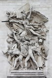 Dekorativa skulpturer på båge av Triumph Arkivfoto