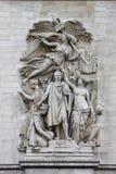 Dekorativa skulpturer på båge av Triumph Fotografering för Bildbyråer