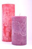 Dekorativa stearinljus olika färger Royaltyfri Foto
