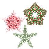 dekorativa stjärnor stock illustrationer