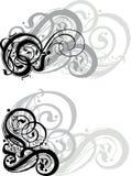 dekorativa swirls Arkivfoto