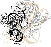 dekorativa swirls Arkivfoton