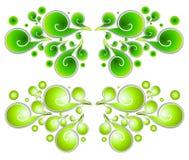 dekorativa swirls för spiral 1 vektor illustrationer
