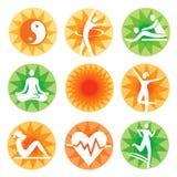 Dekorativa symboler för konditionbrunnsort vektor illustrationer