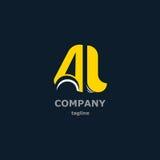 Dekorativa symboler för bokstav för design Arkivbild