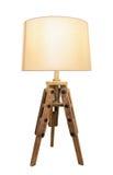 Dekorativa tappninglampskuggor Ut ur trä Royaltyfria Bilder
