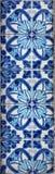 Dekorativa tegelplattor på fasad av huset, Porto, Portugal Arkivbilder