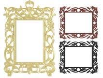dekorativa tomma ramar föreställer tappningväggen Fotografering för Bildbyråer