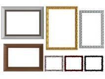 dekorativa tomma ramar föreställer tappningväggen Royaltyfri Fotografi