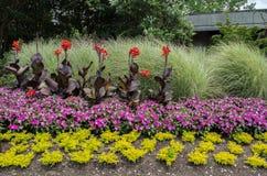 dekorativa trädgårdar Arkivbild