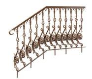 Dekorativa trappräcke, räcke. Arkivbild