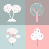 dekorativa trees Fotografering för Bildbyråer