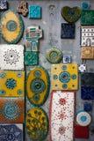 Dekorativa väggtegelplattor i Porto, Portugal Arkivbilder