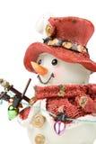 Dekorative Abbildung eines Schneemanns Stockfotografie