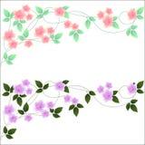 Dekorative abstrakte Zusammensetzung mit Blumen und L Lizenzfreie Stockfotografie