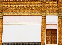 Dekorative Außenwand Stockbilder