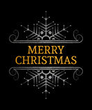 Dekorative Aufschrift der frohen Weihnachten Lizenzfreies Stockbild