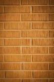 Dekorative Auslegungfassade-Backsteinmauer Stockfoto