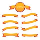 Dekorative Bänder, die Art mit Nähten scrapbooking sind vektor abbildung