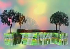 Dekorative Bäume vektor abbildung