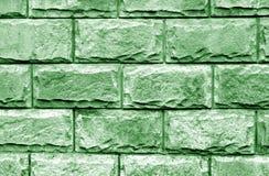 Dekorative Backsteinmauer in der grünen Farbe lizenzfreie stockfotografie