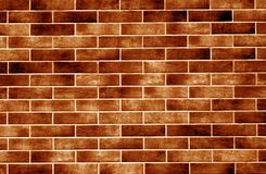 Dekorative Backsteinmauer im orange Ton stockbild